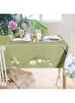 The Mia Leylek Masa Örtüsü - 150 x 150 Cm - Yeşil Yeşil